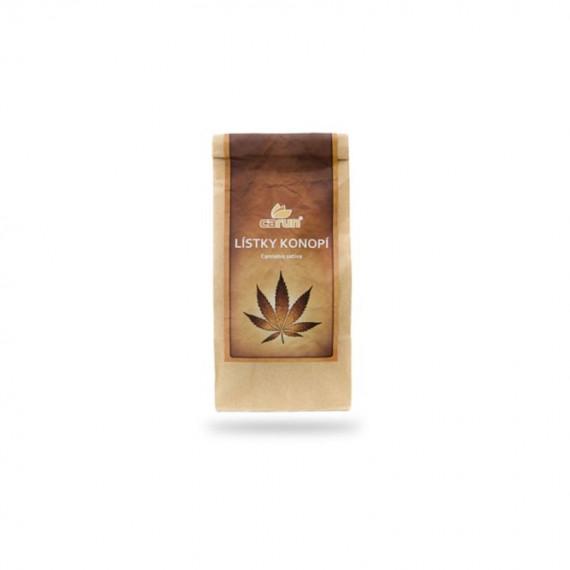 Liście i kwiaty z młodych roślin Cannabis Sativa