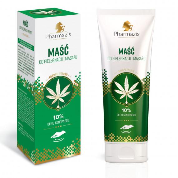 PHARMAZIS Maść do pielęgnacji i masażu - 10% oleju konopnego - konopie polskie 222 ml