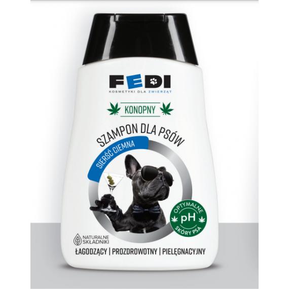 Konopny szampon dla psów o sierść ciemna 300ml