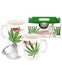 Zestaw 2 kubków Marijuana +...
