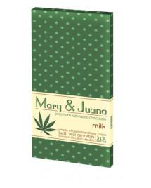 Czekolada mleczna Mary & Juana z ziarnami konopi 80g