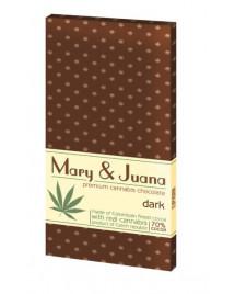 Czekolada gorzka Mary & Juana z ziarnami konopi 80g