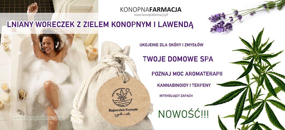 susz konopny z lawendą aromaterapia